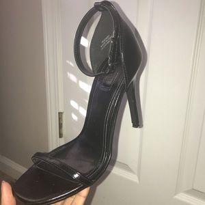 Forever21 Black Strap Heels